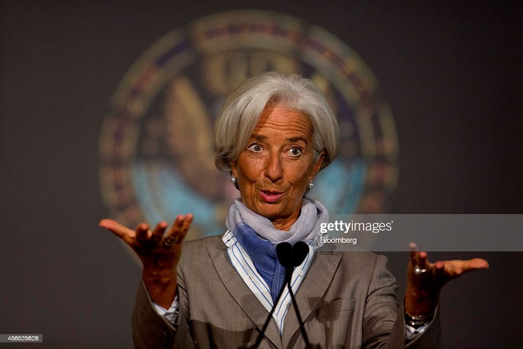 IMF Director Christine Lagarde Remarks On The Global Economy At Georgetown University : Photo d'actualité