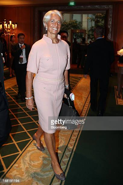 Christine Lagarde managing director of the International Monetary Fund arrives at a conference in Bangkok Thailand on Thursday July 12 2012 The...