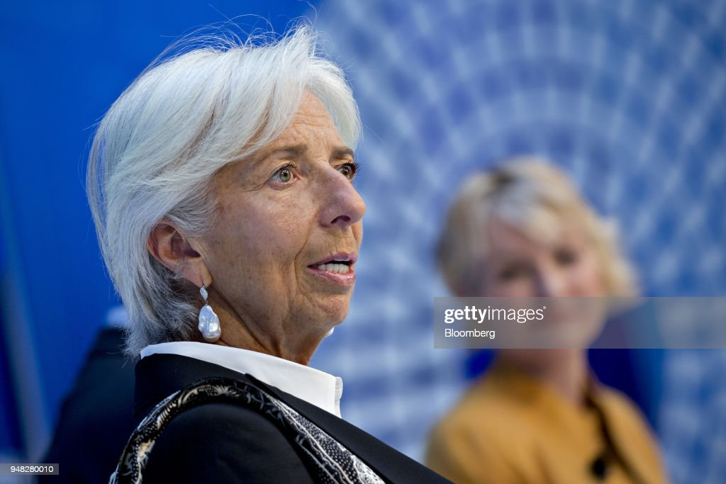 International Monetary Fund Managing Director Christine Lagarde Moderates Panel On Digitalization And The Gilded Age