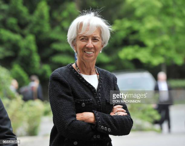 Christine Lagarde Managing Director of the International Monetary Fund attends the opening of the G7 Finance Ministers and Central Bank Governors...