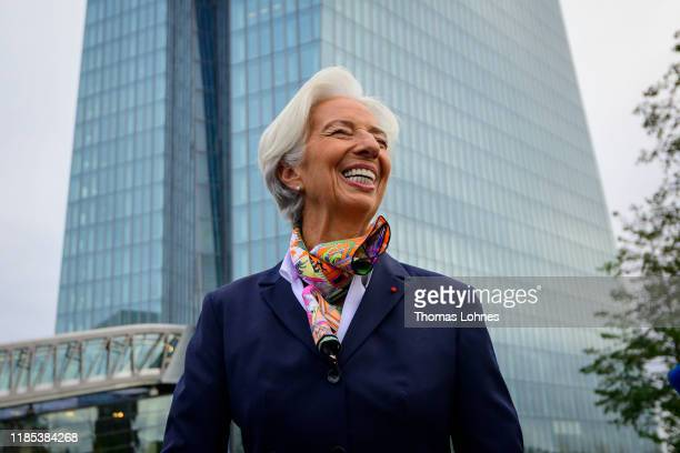Christine Lagarde new president of the European Central Bank arrives for work at ECB headquarters following her recent official assumption of her new...