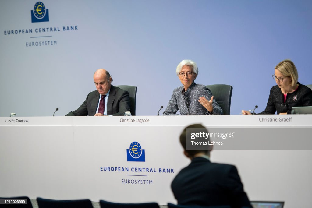 Christine Lagarde Speaks Following ECB Meeting As Coronavirus Spreads : News Photo