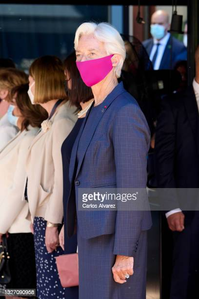 Christine Lagarde, president of the European Central Bank , attends the WJA Congress at Casa de America on July 05, 2021 in Madrid, Spain.