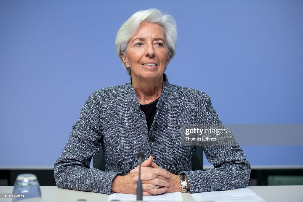 Christine Lagarde Speaks Following ECB Meeting As Coronavirus Spreads : News Photo