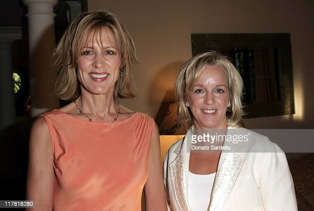 Christine Lahti and Alyce Alston, CEO of De Beers during De Beers Hosts Pre-Emmy Party at Christine Lahti's Home - September 15, 2005 at Private...