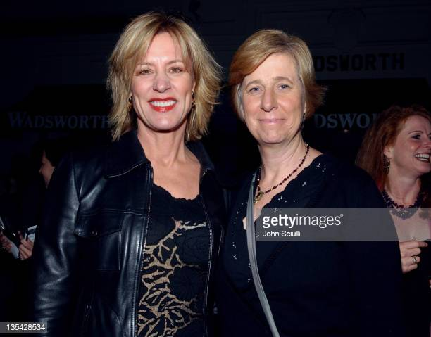 Christine Lahti and Cindy Sheehan during Eve Ensler's The Good Body Opening Night Benefit for VDay LA 2006 Red Carpet at Wadsworth Theatre in Los...