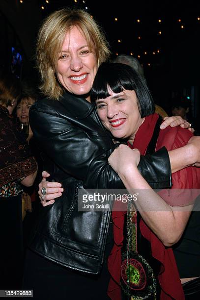 Christine Lahti and Eve Ensler during Eve Ensler's The Good Body Opening Night Benefit for VDay LA 2006 After Party at Napa Valley Grille in Los...