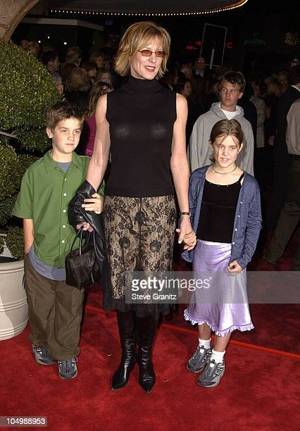 Christine Lahti and family during 'Harry Potter and The Sorcerer's Stone' Los Angeles Premiere at Mann Village Theatre in Westwood California United...
