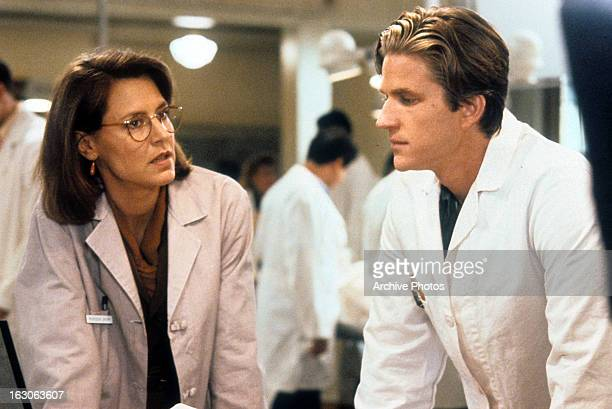 Christine Lahti and Matthew Modine in a scene from the film 'Gross Anatomy' 1989