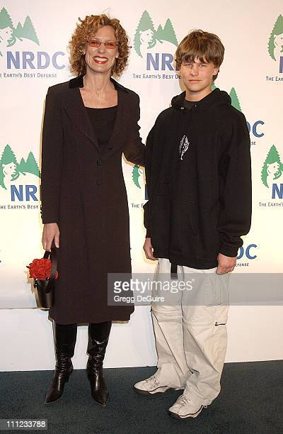 Christine Lahti and son Wilson during NRDC Presents The Rolling Stones in a Free Concert to Fight Global Warming Arrivals at Staples Center in Los...