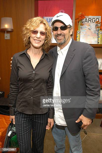 Christine Lahti and Tommy Schlamme during The Lucky/Cargo Club An Upfront Week Hospitality Suite Day 2 at Le Parker Meridien in New York City New...