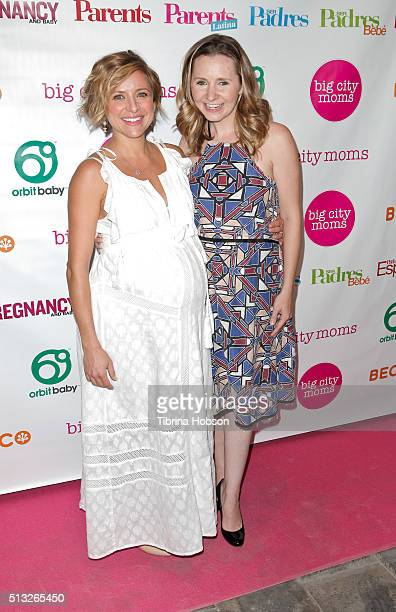 Christine Lakin and Beverley Mitchell attend the Big City Moms Host 'The Biggest Baby Shower Ever' at Skirball Cultural Center on March 1 2016 in Los...