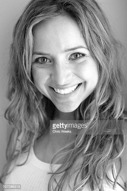 Christine Lakin at Activision St Jude House during 2005 Sundance Film Festival Park City Black White Photography by Chris Weeks in Park City Utah...
