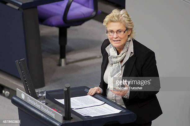 Christine Lambrecht SPD speaks at German Bundestag on December 19 2013 in Berlin Germany