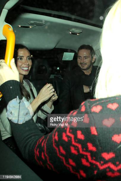 Christine Lampard and Frank Lampard seen attending Piers Morgan's Christmas party at Scarsdale Tavern on December 19 2019 in London England