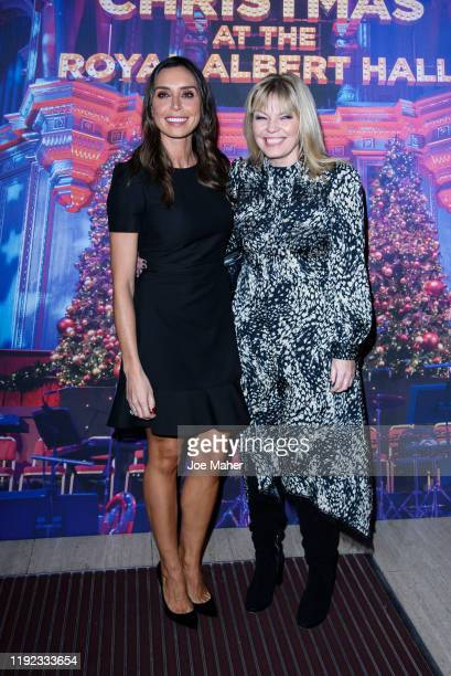 Christine Lampard and Kate Thornton attend Emma Bunton's Christmas Party at Hilton Park Lane on December 06 2019 in London England