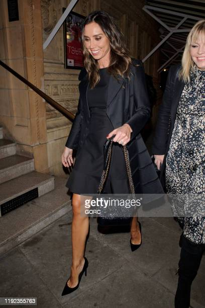 Christine Lampard and Kate Thornton seen attending Emma Bunton's Christmas Party at the Royal Albert Hall on December 06 2019 in London England