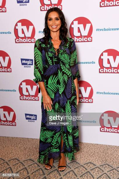 Christine Lampard arrives at the TV Choice Awards at The Dorchester on September 4 2017 in London England