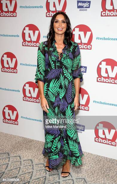 Christine Lampard arrives for the TV Choice Awards at The Dorchester on September 4 2017 in London England