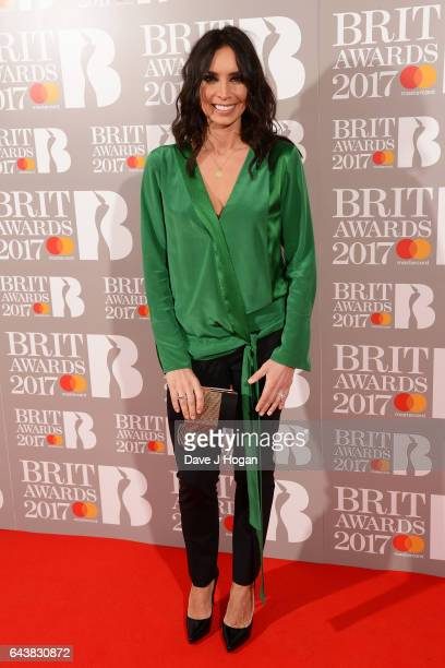 ONLY Christine Lampard attends The BRIT Awards 2017 at The O2 Arena on February 22 2017 in London England