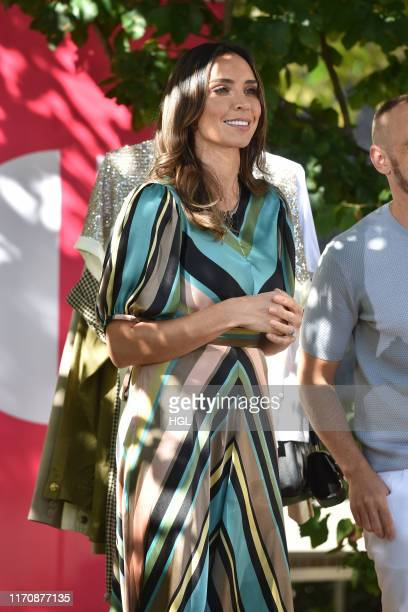 Christine Lampard is seen at the ITV Studios on August 29 2019 in London England
