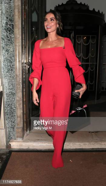 Christine Lampard is seen attending A Very British Affair on September 13 2019 in London England