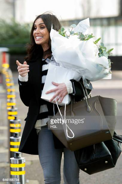 Christine Lampard seen at the ITV Studios on February 28 2017 in London England