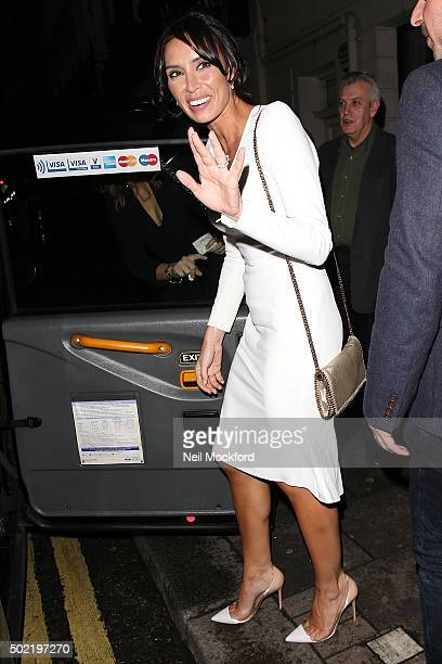 Christine Lampard seen leaving a restaurant a day after her wedding on December 21 2015 in London England