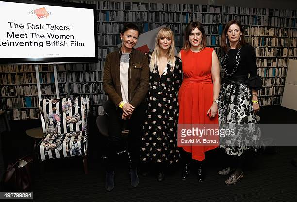 Christine Langan from BBC Films, host Edith Bowman, director Chanya Button and Amanda Barry from Bafta during day one of Stylist Magazine's first...