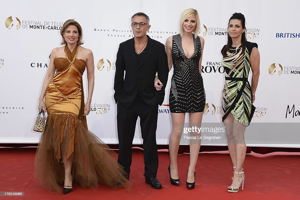 Christine Lemler, Frederic Deban, Nadege Lacroix and Adeline Blondieau attend the opening ceremony of the 53rd Monte Carlo TV Festival on June 9, 2013 in Monte-Carlo, Monaco.