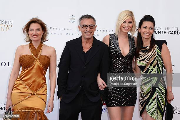 Christine Lemler Frederic Deban Nadege Lacroix and Adeline Blondieau attend the opening ceremony of the 53rd Monte Carlo TV Festival on June 9 2013...