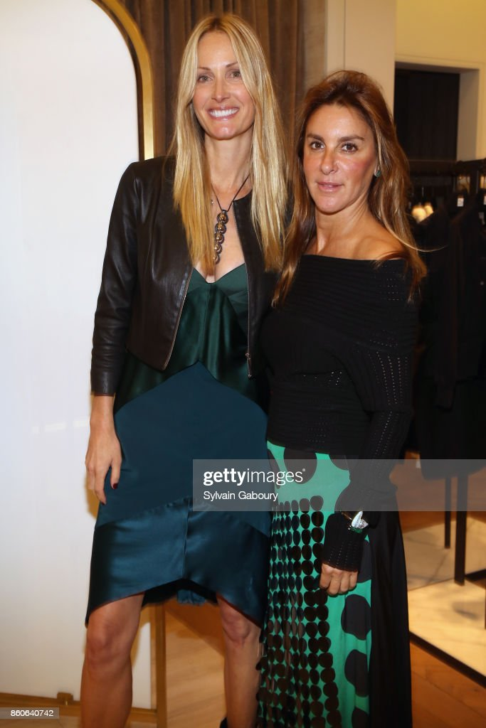 Christine Mack and Dori Cooperman attend Saks Fifth Avenue Luncheon to Benefit City Harvest at Saks Fifth Avenue on October 12, 2017 in New York City.