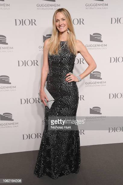 Christine Mack attends the Guggenheim International Gala Dinner made possible by Dior at Solomon R Guggenheim Museum on November 15 2018 in New York...