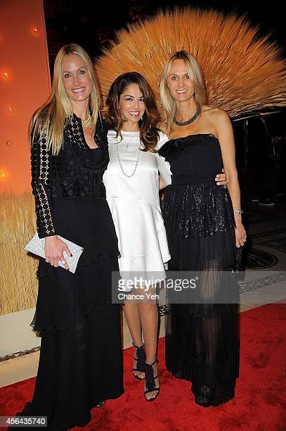 Christine Mack Dayssi Olarte de Kanavos and Lise Evans attend 15th Annual New Yorkers For Children Gala at Cipriani 42nd Street on September 30 2014...