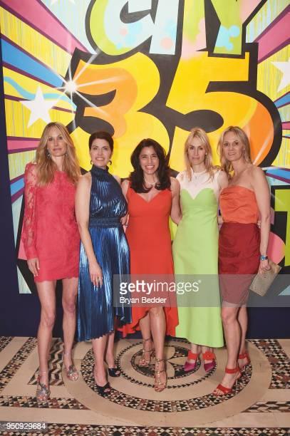 Christine Mack Diana DiMenna Sandra Ripert Carola Jain and Lise Evans attends City Harvest's 35th Anniversary Gala at Cipriani 42nd Street on April...