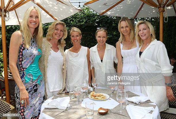 Christine Mack Felicia Taylor Gigi Grimstad Marie France Van Damme Lise Evans and Jill Viner attend a lunch hosted by Alina Cho and Samantha Yanks...