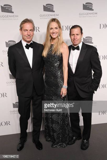 Christine Mack Richard Mack and guest attend the Guggenheim International Gala Dinner made possible by Dior at Solomon R Guggenheim Museum on...
