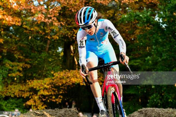 Christine Majerus from Luxembourg during the Women's Elite race at the European Cyclocross Championships - Day Three on November 4, 2018 in...