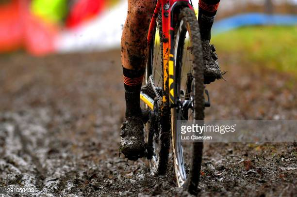 Christine Majerus of Luxembourg and Boels Dolmans Cycling Team / Bike / Mud / Detail view / Wheel / during the 21st Superprestige Gavere 2020 - Women...