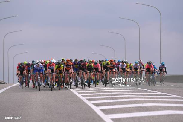 Christine Majerus of Luxembourg and Boels Dolmans Cycling Team / Tiffany Cromwell of Australia and Canyon-SRAM Racing Team / Amanda Spratt of...