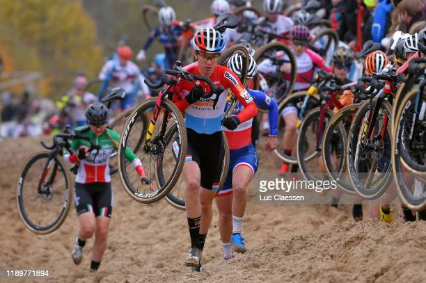 Christine Majerus of The Luxembourg and Boels Dolmans Cycling Team / Caroline Mani of France / during the 49th Koksijde World Cup 2019, Women Elite /...