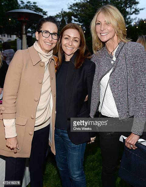 Christine Maleo Lauren Turner and Krista Levitan attend the Children's Action Network Wine Women and Shoes at a private residence on May 6 2015 in...