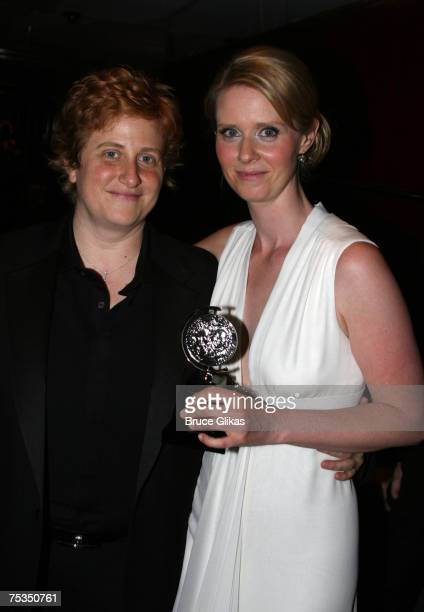 Christine Marinoni and Cynthia Nixon winner of Best Performance by a Leading Actress in a Play for Rabbit Hole