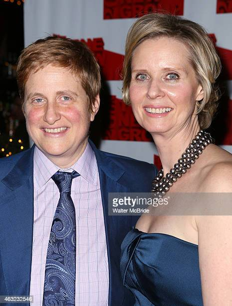 Christine Marinoni and wife Cynthia Nixon attend the Off-Broadway Opening Night After Party for 'Rasheeda Speaking' at the West Bank Cafe on February...