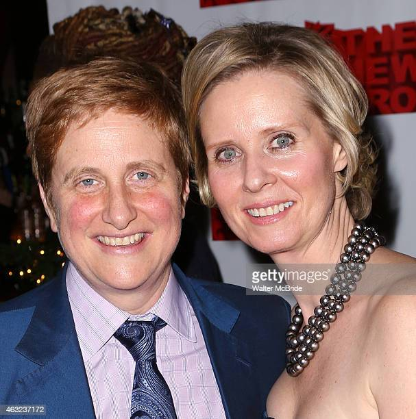 Christine Marinoni and wife Cynthia Nixon attend the OffBroadway Opening Night After Party for 'Rasheeda Speaking' at the West Bank Cafe on February...