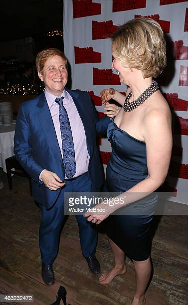 Christine Marinoni and wife Cynthia Nixon attends the OffBroadway Opening Night After Party for 'Rasheeda Speaking' at the West Bank Cafe on February...