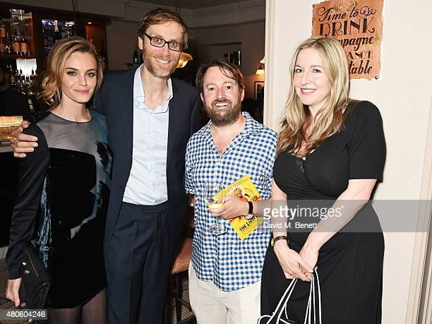 Christine Marzano Stephen Merchant David Mitchell and Victoria Coren Mitchell attend an after party following the press night performance of The...
