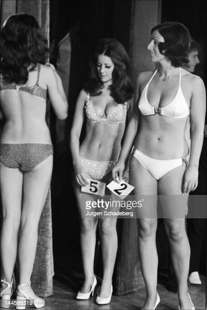 Christine Mason wins the Miss Universe Bikini contest at Victoria Palace in London 1972 She is the wife of bodybuilder Paul Grant