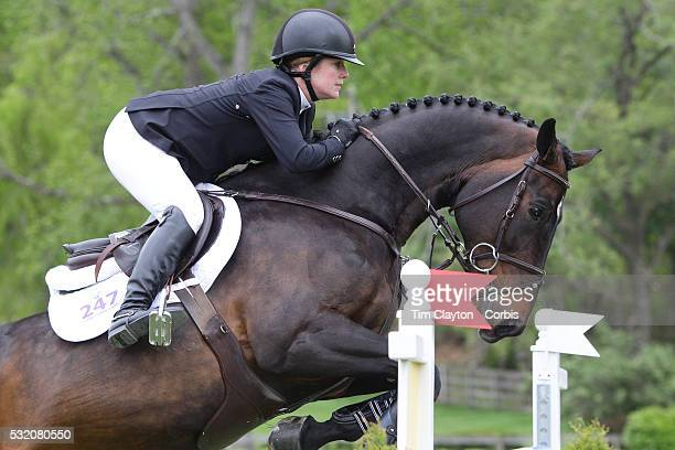 Christine McCrea USA riding Win For Life in action during The $50000 Old Salem Farm Grand Prix presented by The Kincade Group at the Old Salem Farm...