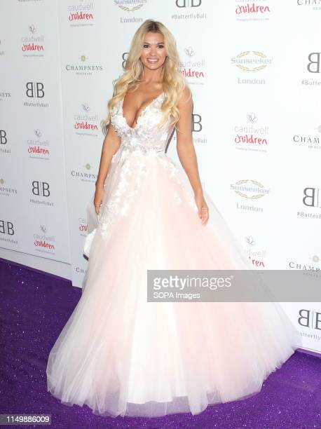 Christine McGuinness arrives for the Caudwell Children Butterfly Ball charity event at the Grosvenor House Park Lane